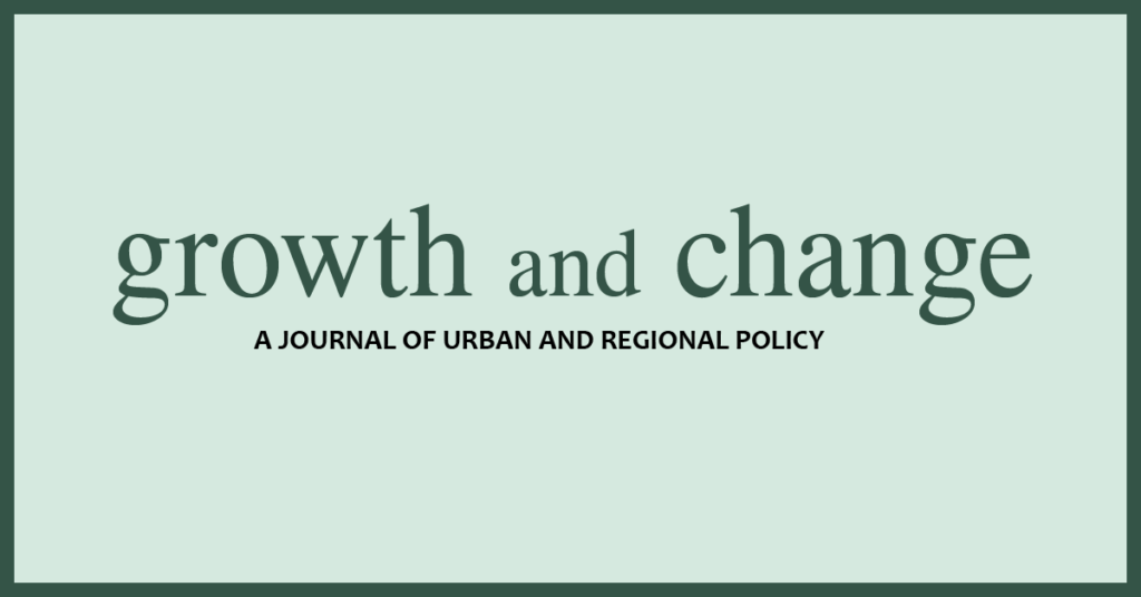 Call for papers for a special issue of Growth and Change