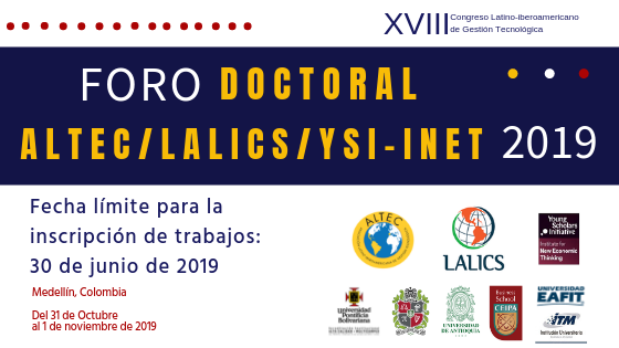 Foro Doctoral ALTEC/LALICS/YSI-INET 2019