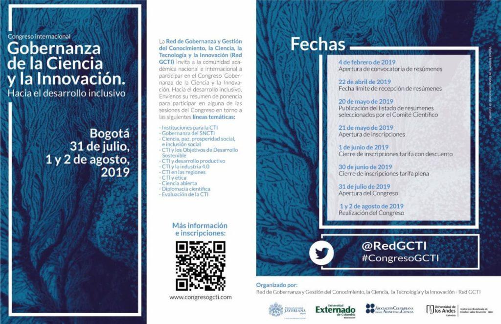 Congreso internacional Gobernanza de la Ciencia y la Innovación: Hacia el desarrollo inclusivo