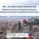 Instituciones, Gobernanza y Desarrollo Regional: Repensando el Desarrollo Económico Local desde las Periferias