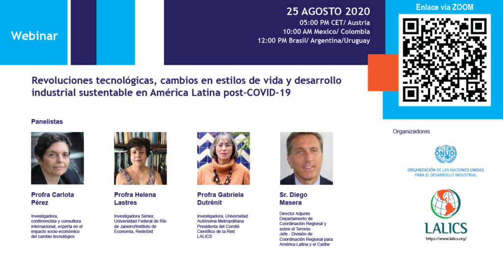 Webinar: Revoluciones tecnológicas, cambios en estilos de vida y desarrollo industrial sustentable en América Latina post-COVID-19