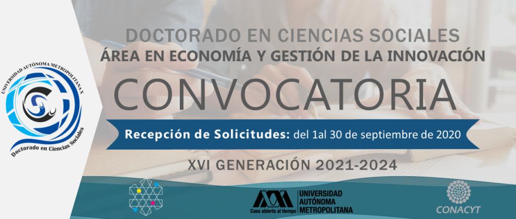 Doctorado en Ciencias Sociales, Área en Economía y Gestión de la Innovación