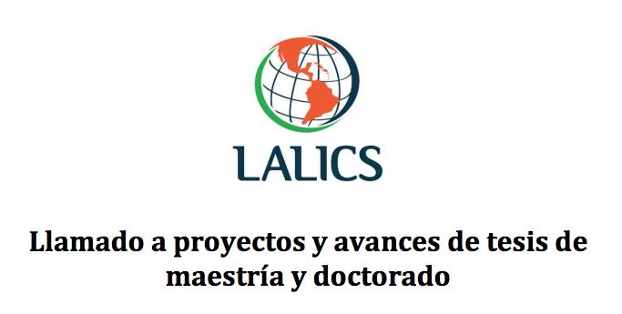 Llamado a Proyectos y Avances de Tesis de Maestría y Doctorado