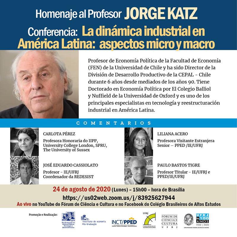 Homenaje al Dr. Jorge Katz