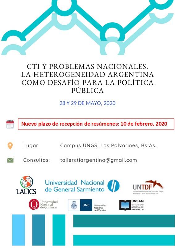 """Taller: """"CTI y problemas nacionales. La heterogeneidad argentina como desafío para la política pública"""""""