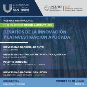 Webinar Internacional «Desafíos de la Innovación y la Investigación Aplicada»