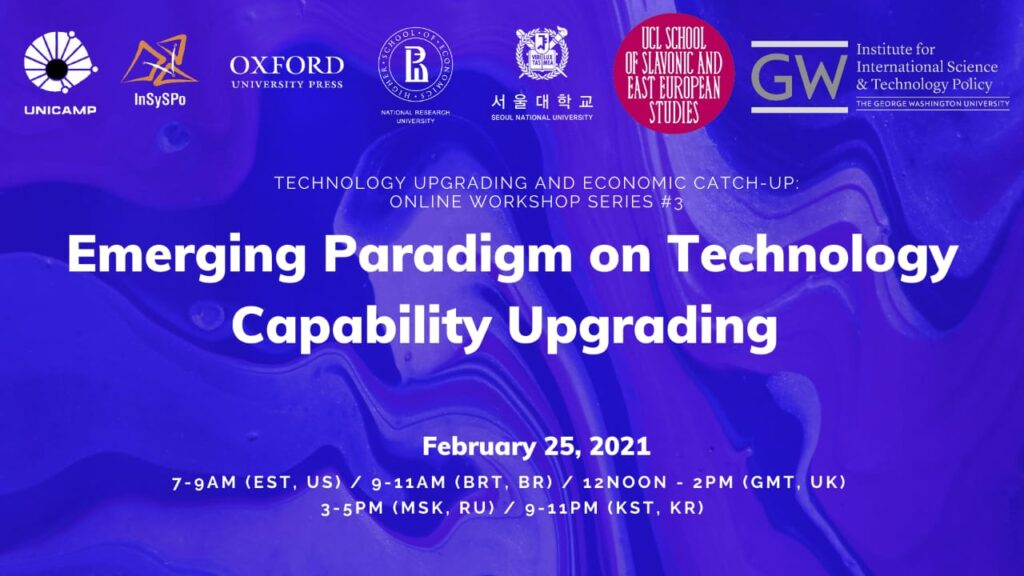Online Workshop #3. Emerging paradigm on technology capability upgrading: embracing green, inclusive and social sustainability concerns
