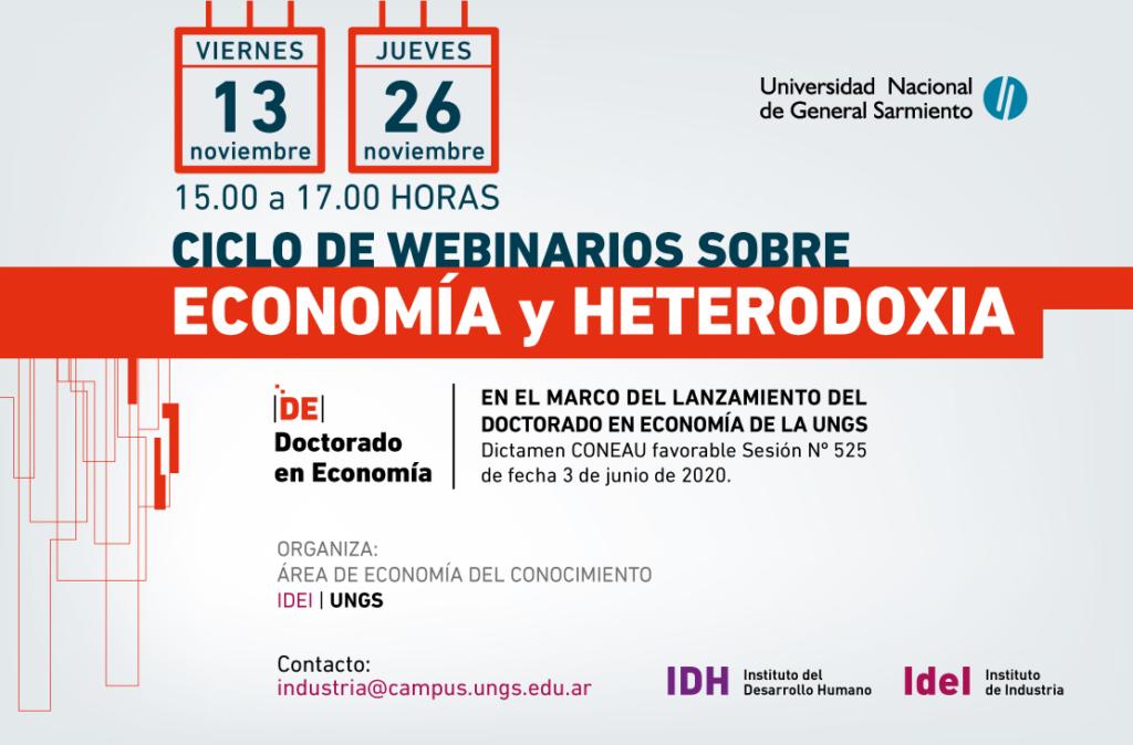 CICLO DE WEBINARIOS SOBRE ECONOMÍA y HETERODOXIA